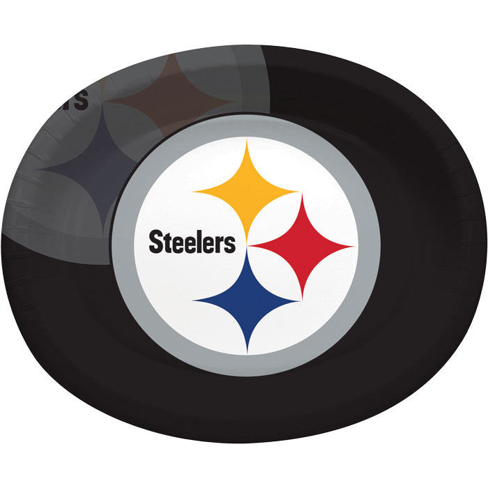 "Pittsburgh Steelers Oval Platter 10"" X 12"", 8 ct by Creative Converting"