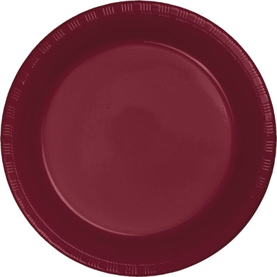 Burgundy Red Plastic Dessert Plates, 20 ct by Creative Converting