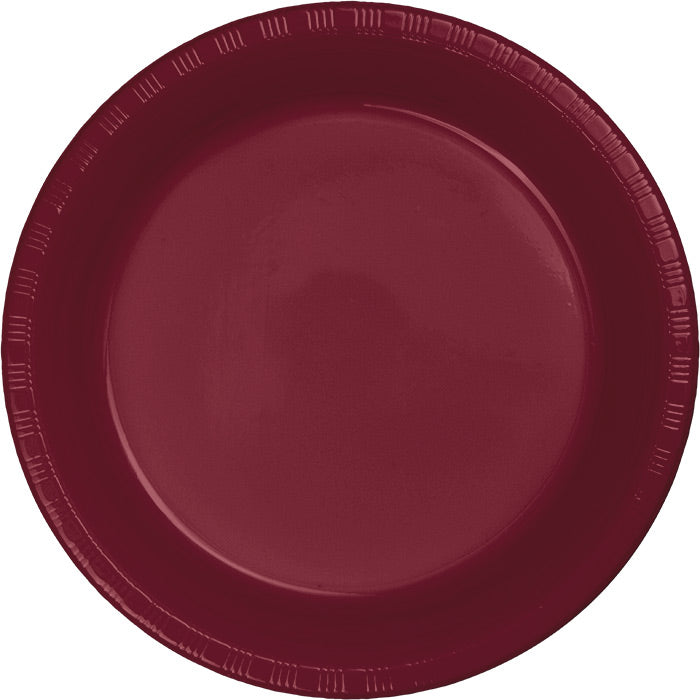 Burgundy Red Plastic Banquet Plates, 20 ct by Creative Converting