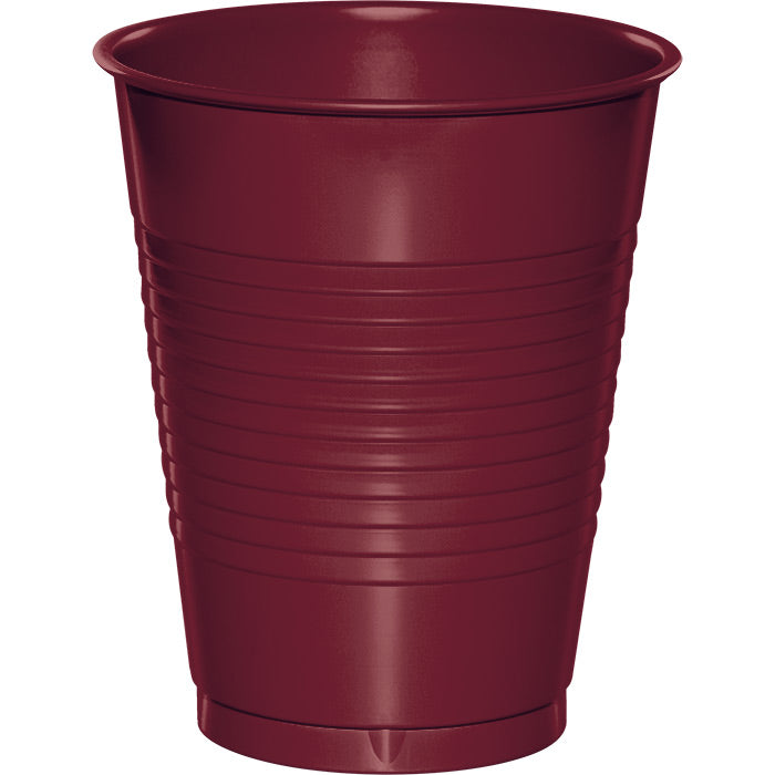 Burgundy Red Plastic Cups, 20 ct by Creative Converting