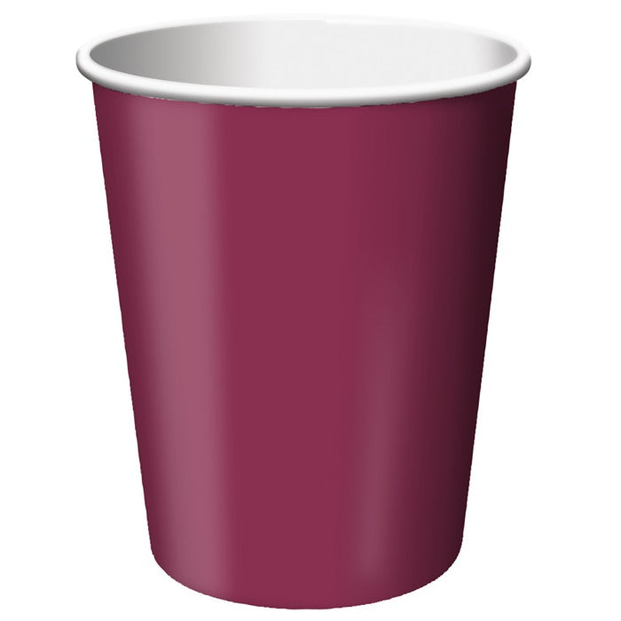 Burgundy Hot/Cold Paper Cups 9 Oz., 24 ct by Creative Converting