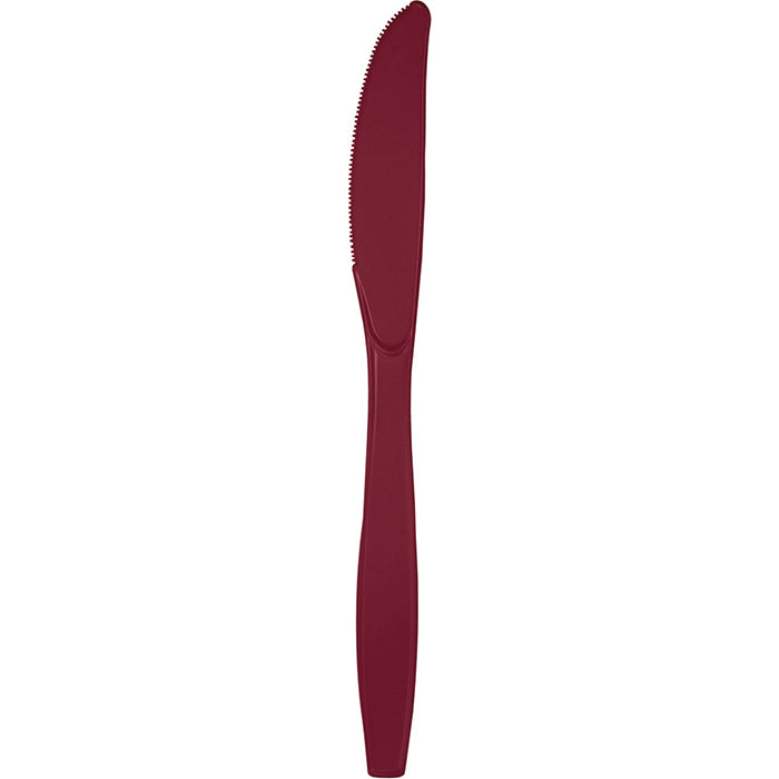 Burgundy Red Plastic Knives, 24 ct by Creative Converting