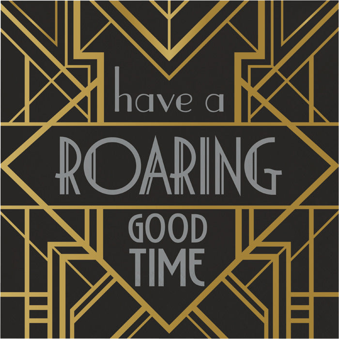 Roaring 20S Roaring Good Time Napkins, Pack Of 16 by Creative Converting