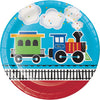 All Aboard Train Paper Plates, 8 ct by Creative Converting