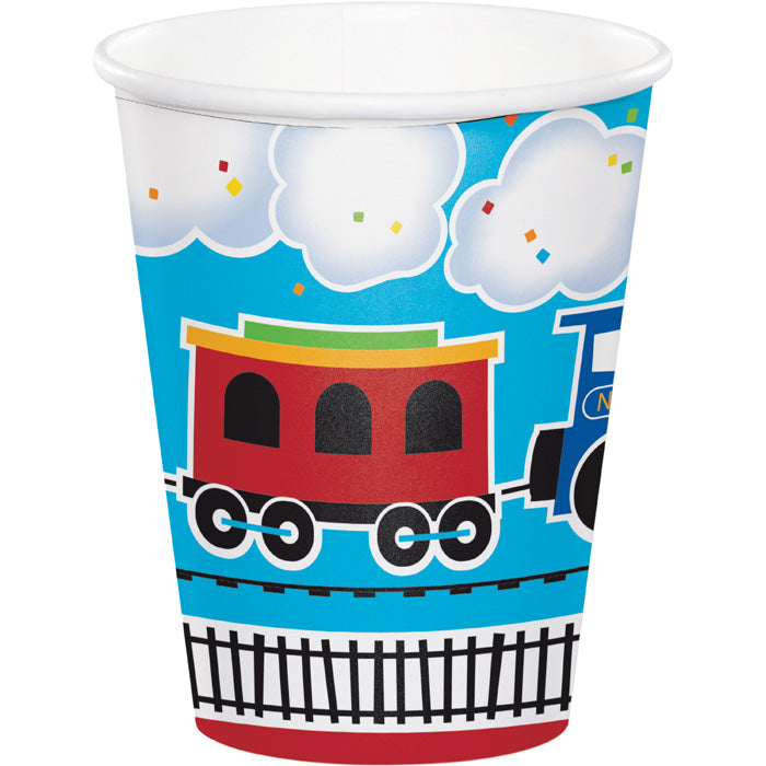 All Aboard Hot/Cold Paper Cups 9 Oz., 8 ct by Creative Converting