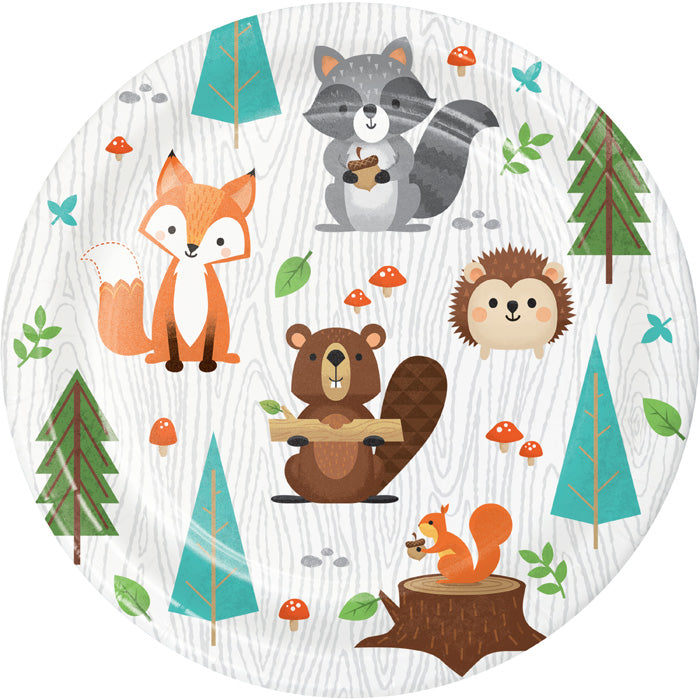 Wild One Woodland Animals Dessert Plates, Pack Of 8 by Creative Converting