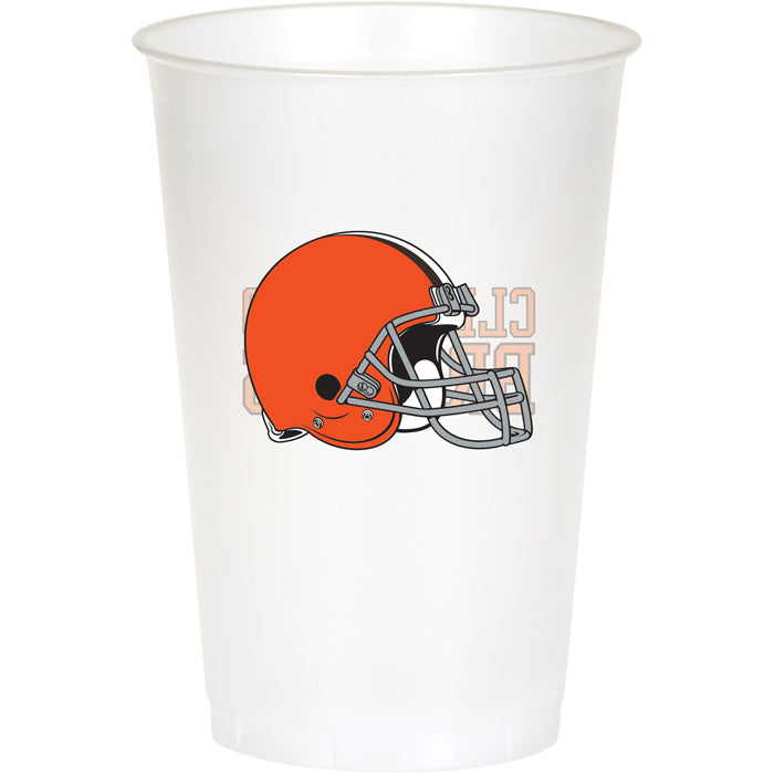 Cleveland Browns Plastic Cup, 20Oz, 8 ct by Creative Converting