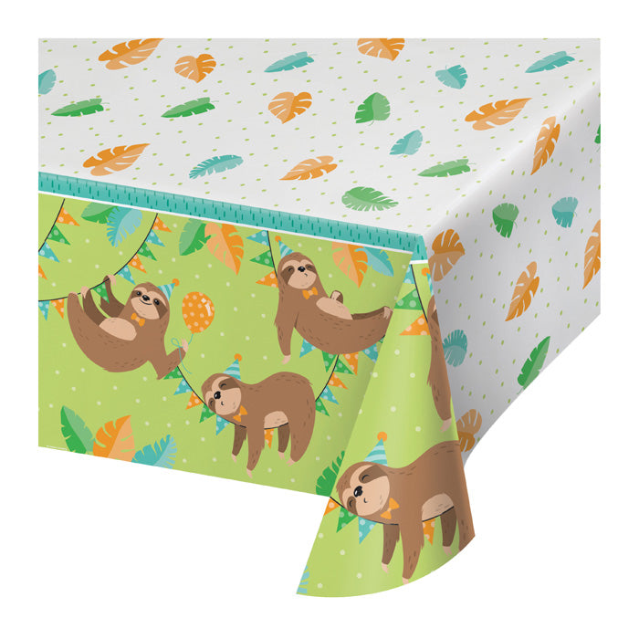 Sloth Party Plastic Tablecloth by Creative Converting