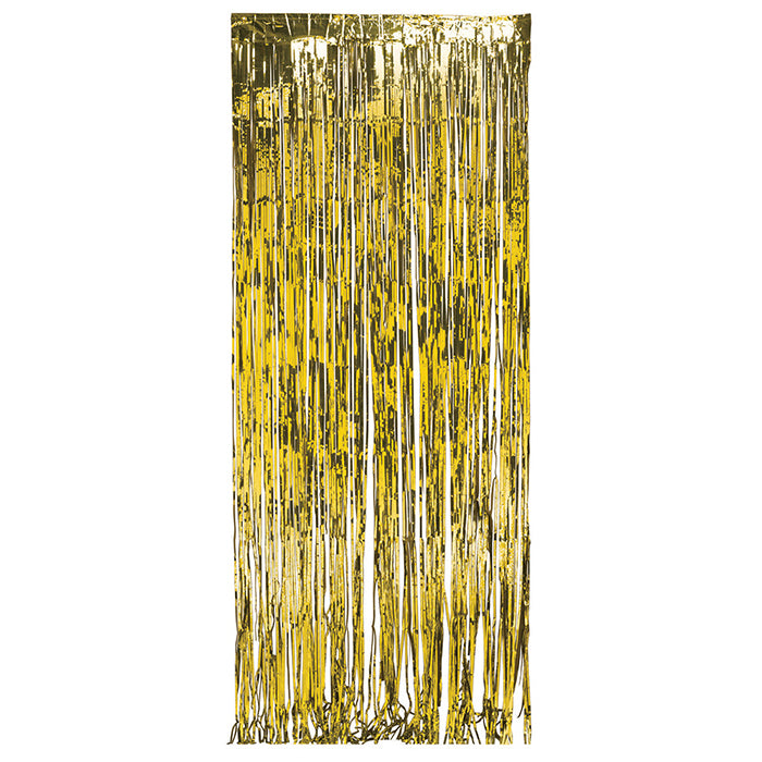 Foil Door Curtain Gold, 8'X3' by Creative Converting