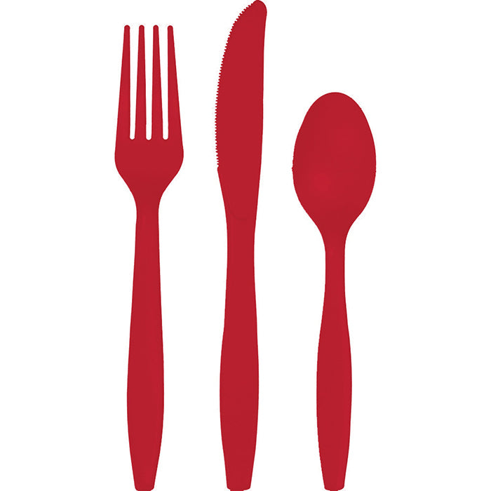Classic Red Assorted Cutlery, 18 ct by Creative Converting