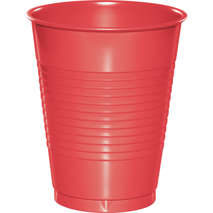 Coral Plastic Cups, 20 ct by Creative Converting