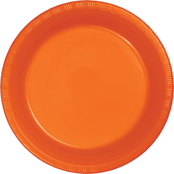 Sunkissed Orange Plastic Banquet Plates, 20 ct by Creative Converting