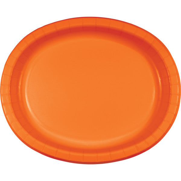 "Sunkissed Orange Oval Platter 10"" X 12"", 8 ct by Creative Converting"