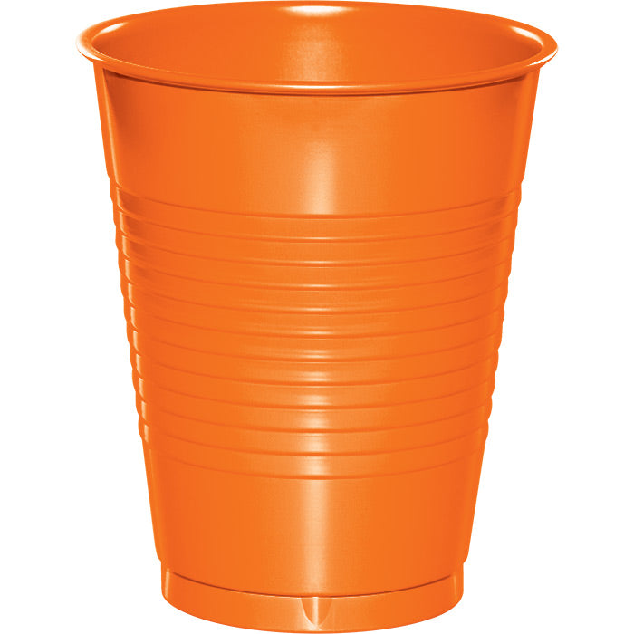 Sunkissed Orange Plastic Cups, 20 ct by Creative Converting