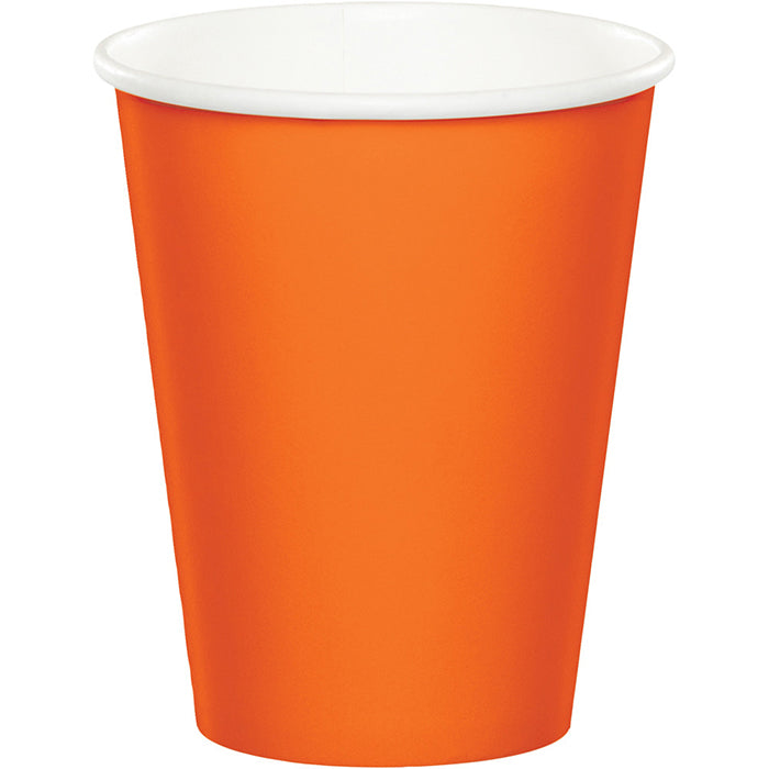 Sunkissed Orange Hot/Cold Paper Paper Cups 9 Oz., 8 ct by Creative Converting