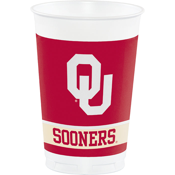 University Of Oklahoma 20 Oz Plastic Cups, 8 ct by Creative Converting