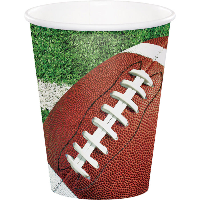 Football Party Hot/Cold Paper Cups 9 Oz., 8 ct by Creative Converting