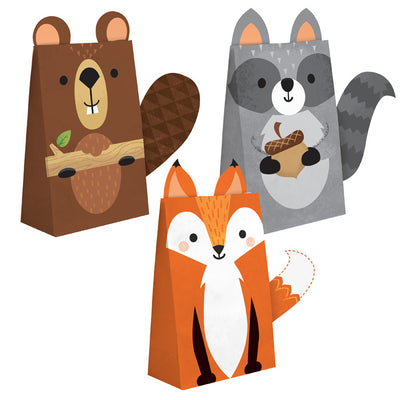 Wild One Woodland Paper Treat Bags, Pack Of 8 by Creative Converting