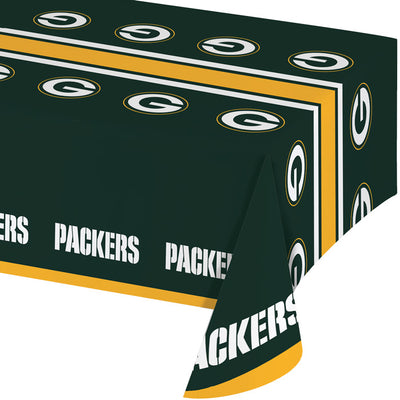 "Green Bay Packers Plastic Tablecloth, 54"" X 108"" by Creative Converting"