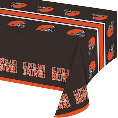 "Cleveland Browns Plastic Tablecloth, 54"" X 108"" by Creative Converting"