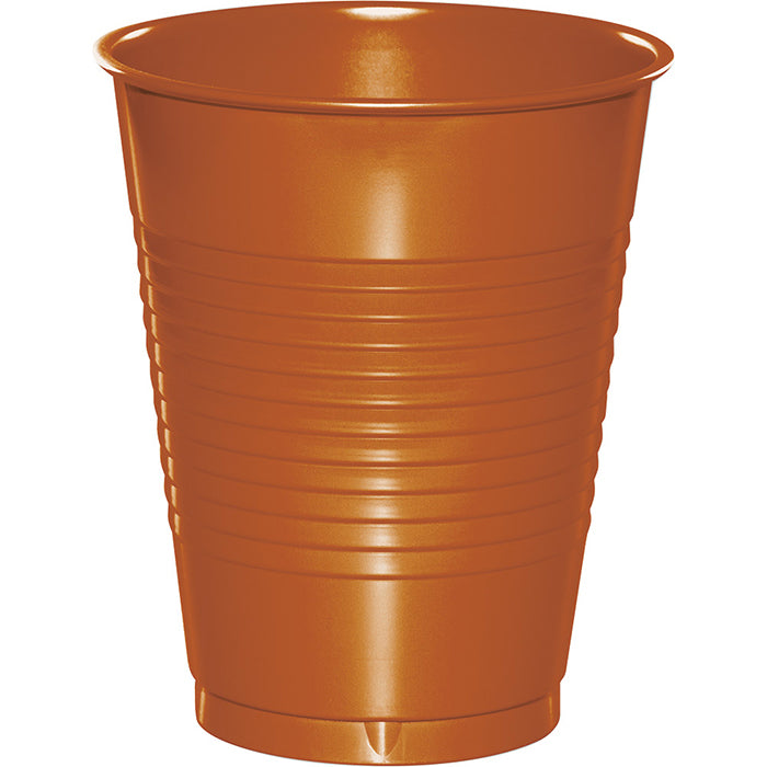 Pumpkin Spice Orange 16 Oz Plastic Cups, 20 ct by Creative Converting