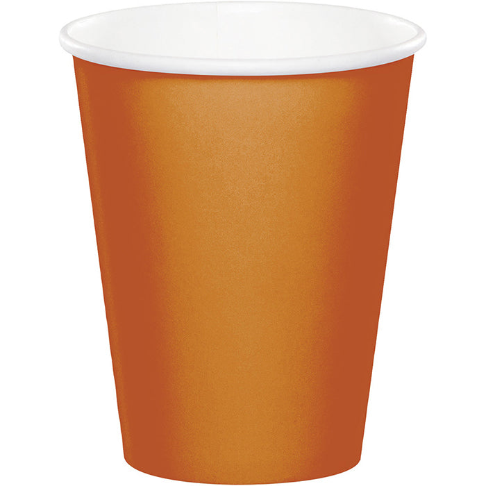 Pumpkin Spice Hot/Cold Paper Paper Cups 9 Oz., 24 ct by Creative Converting