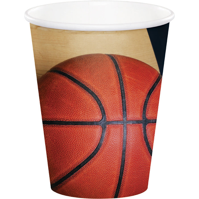 Sports Fanatic Basketball Hot/Cold Paper Paper Cups 9 Oz., 8 ct by Creative Converting