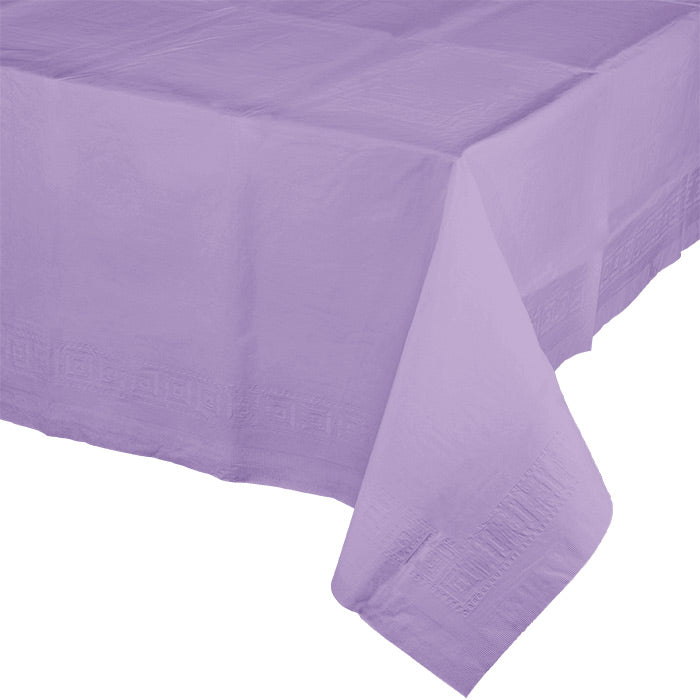 "Luscious Lavender Tablecover 54""X 108"" Polylined Tissue by Creative Converting"