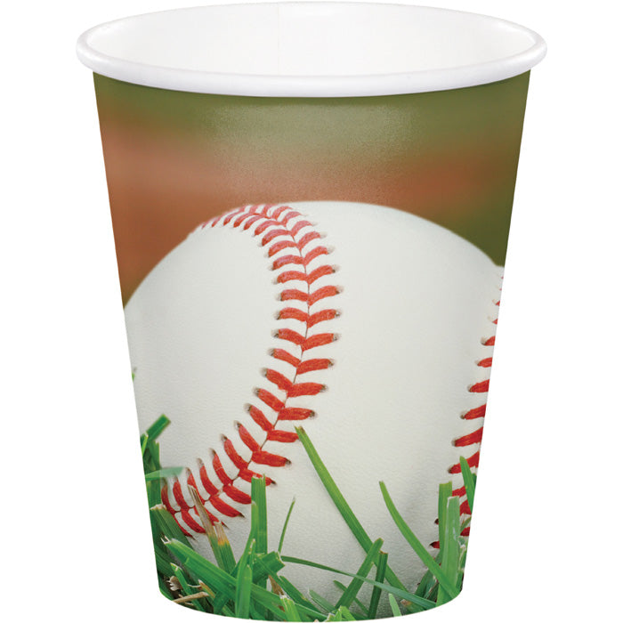 Sports Fanatic Baseball Hot/Cold Paper Paper Cups 9 Oz., 8 ct by Creative Converting