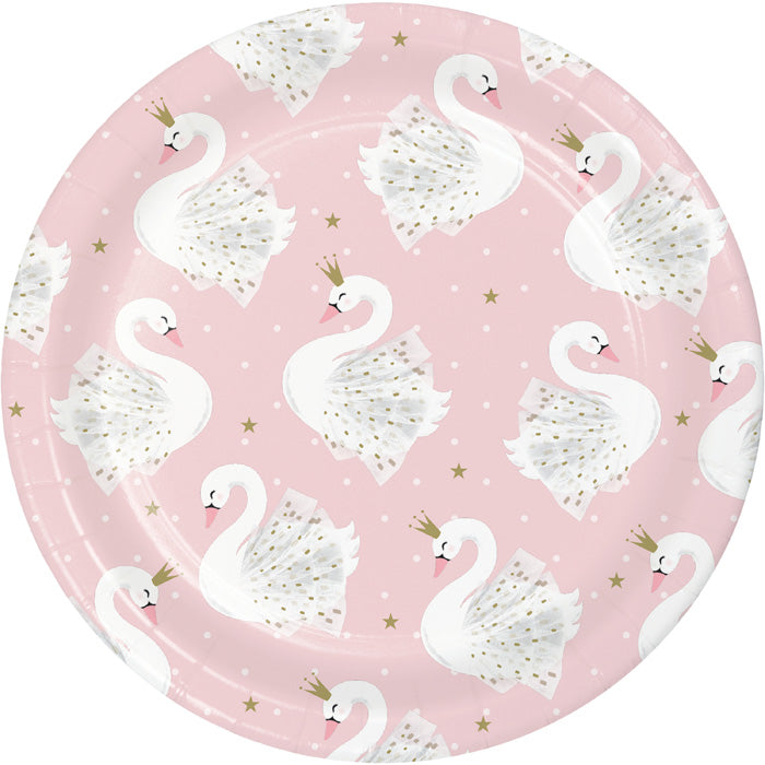 Stylish Swan Party Luncheon Plate 8ct by Creative Converting