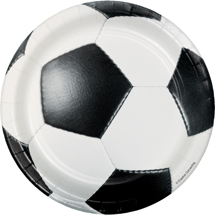 Soccer Dessert Plates, 8 ct by Creative Converting