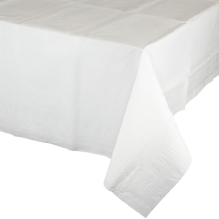 "White Tablecover 54""X 108"" Polylined Tissue by Creative Converting"