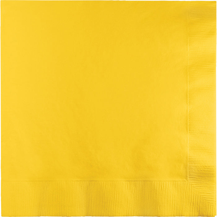 School Bus Yellow Luncheon Napkin 3Ply, 50 ct by Creative Converting