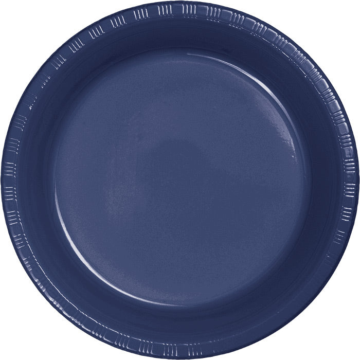 Navy Blue Plastic Banquet Plates, 20 ct by Creative Converting