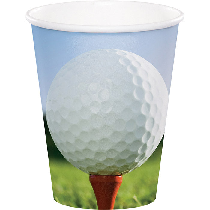Sports Fanatic Golf Hot/Cold Paper Paper Cups 9 Oz., 8 ct by Creative Converting