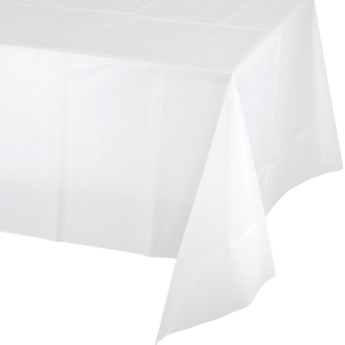 "White Tablecover Plastic 54"" X 108"" by Creative Converting"