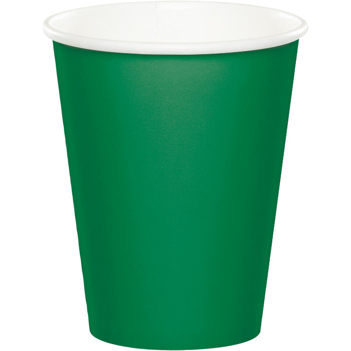 Emerald Green Hot/Cold Paper Cups 9 Oz., 24 ct by Creative Converting