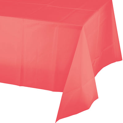 "Coral Tablecover Plastic 54"" X 108"" by Creative Converting"