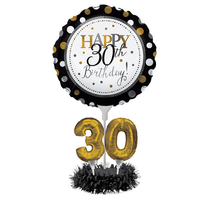 30th Birthday Balloon Centerpiece Kit by Creative Converting