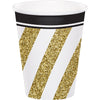 Black & Gold Hot/Cold Paper Cups 9 Oz., 8 ct by Creative Converting