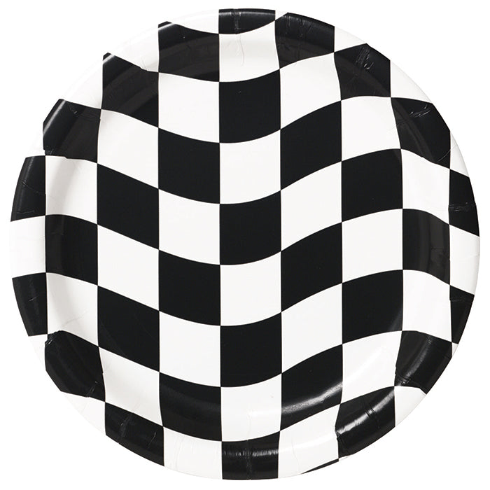 Black And White Check Dessert Plates, 8 ct by Creative Converting