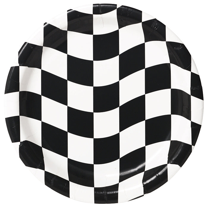 Black And White Check Paper Plates, 8 ct by Creative Converting