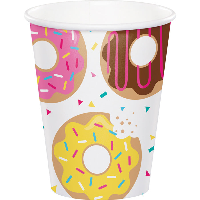 Donut Time Hot/Cold Paper Cups 9 Oz., 8 ct by Creative Converting