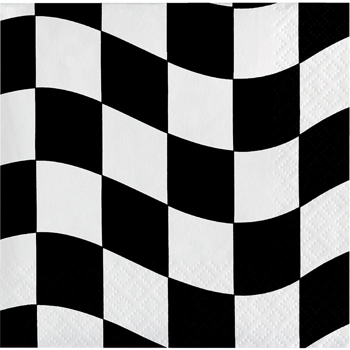 Black And White Check Beverage Napkins, 18 ct by Creative Converting
