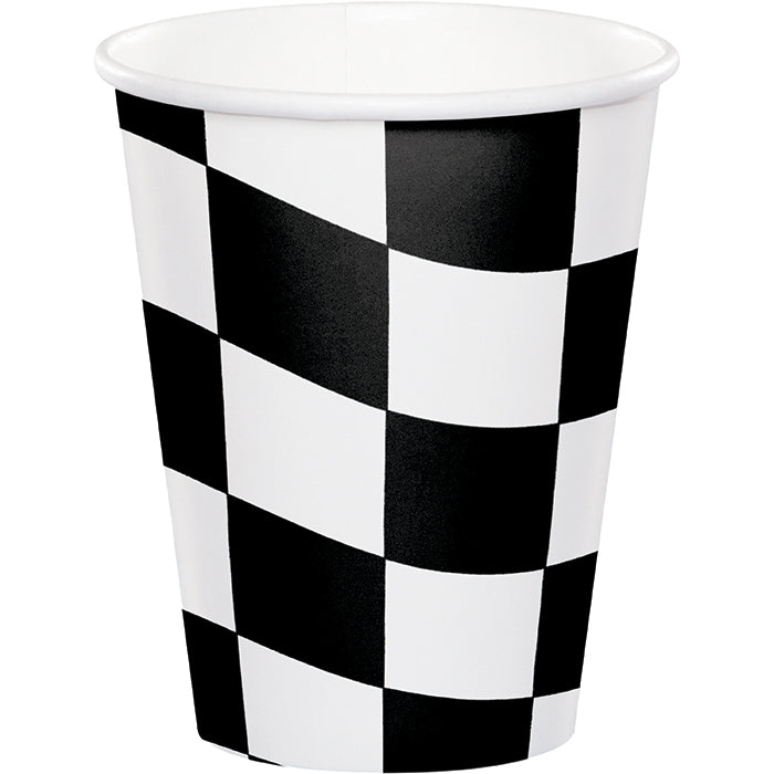 Black & White Check Hot/Cold Paper Cups 9 Oz., 8 ct by Creative Converting