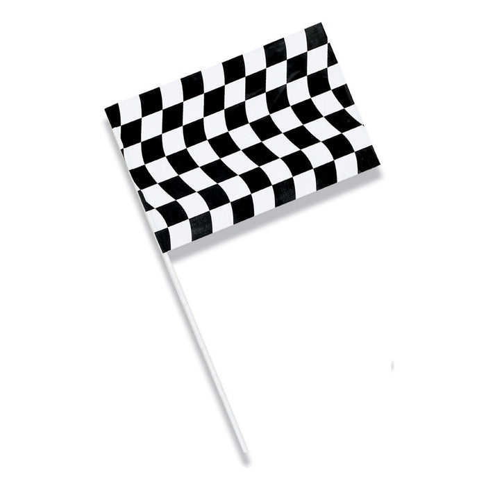 Black And White Check Plastic Flag by Creative Converting