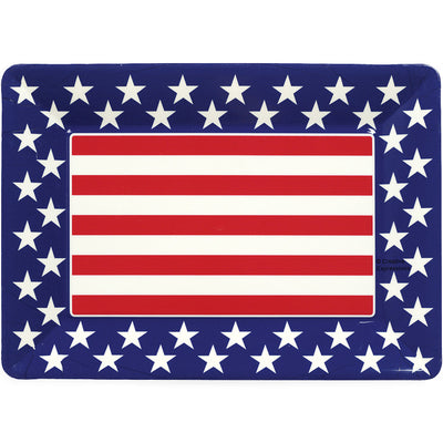 "Plastic Tray, Patriotic 12"" X 16"" by Creative Converting"