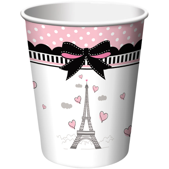 Party In Paris Hot/Cold Paper Paper Cups 9 Oz., 8 ct by Creative Converting