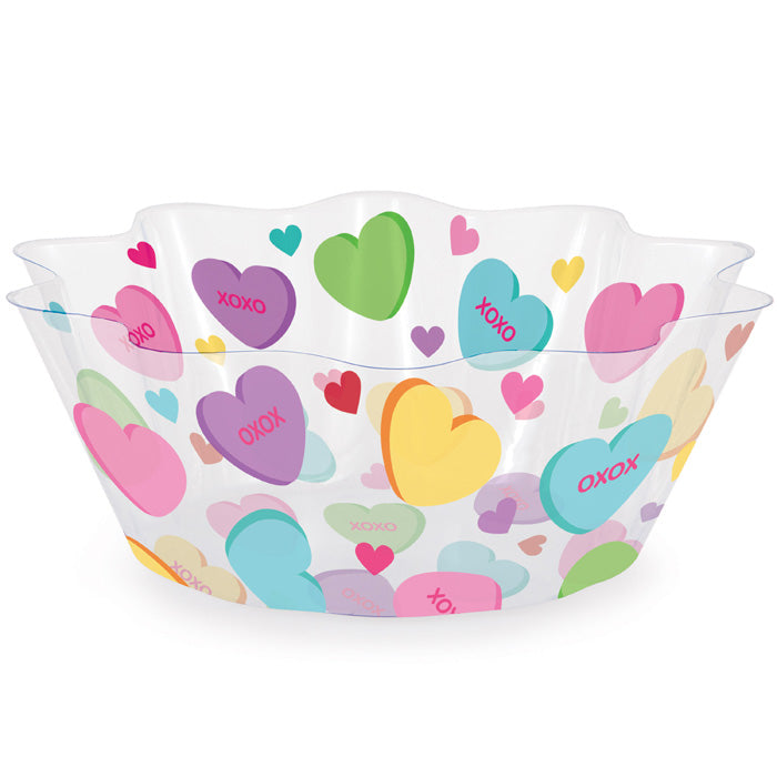 "Valentine Valentine Icons 8"" Fluted Bowl by Creative Converting"