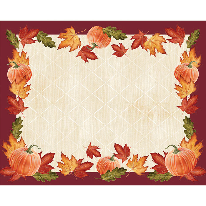 Leaves And Pumpkin Placemats, 12 ct by Creative Converting
